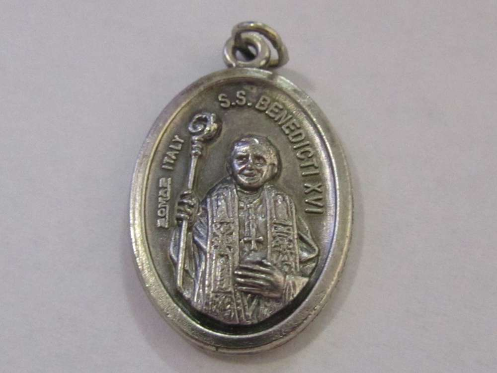 "1"" Pope Benedict XVl Oxidized Medal Patron saint, medals, oxidized medal,1"" medal, medal only, sacramental gift, special occasion gift,14598"