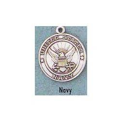 "1"" St. Christopher /Navy Medal St. Christopher / Navy , Soldiers,Military,army, sterling silver medals, gold filled medals, patron, saints, saint medal, saint pendant, saint necklace, 36400,354"