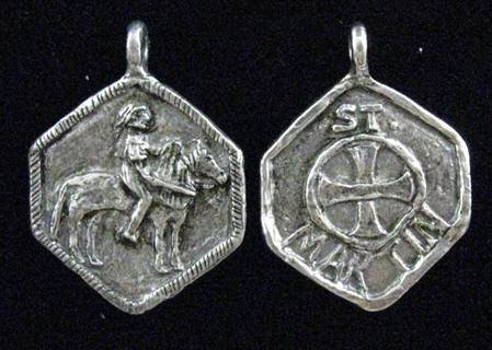 "1""  St. Martin of Tours MedalWHILE SUPPLIES LAST patron saint medal, pewter medal, necklace, keyring, patron of horses and riders, male saint, 15249"