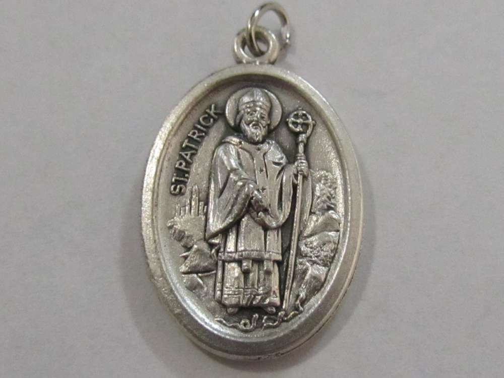 "1"" St.  Patrick Oxidized Medal Patron saint, medals, oxidized medal,1"" medal, medal only, sacramental gift, special occasion gift,14429"