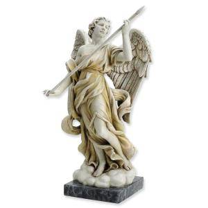 "10.75"" Angel With Spear Statue"