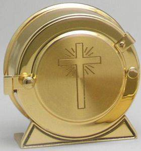 1002 Luna Holder luna holder, trackless luna holder, no track luna holder, monstrance, consecrated host