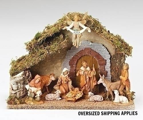 Fontanini 10 Piece Nativity Set with Stable fontanini nativity set, nativity scene, italian nativity, nativity from italy, fontannini