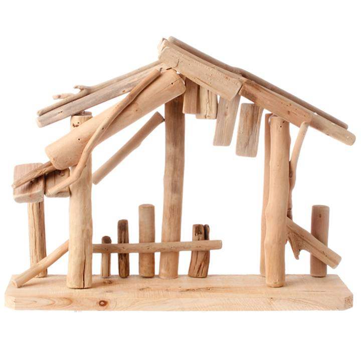 "15"" Wooden Nativity Stable   nativity stable, wood stable, creche, christmas decor, indoor stable, holiday stable,3409283"