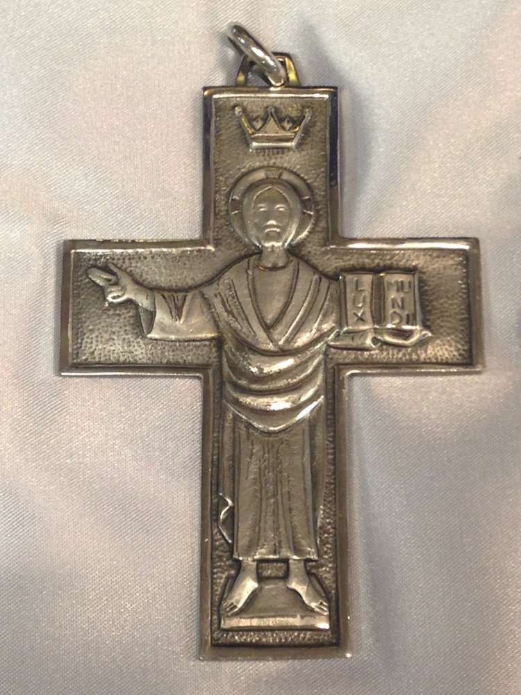 1698C Pectoral Cross Sterling Silver Made In Italy