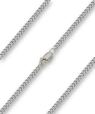"18"" Silver Plated Heavy Curb Chain with Clasp chain, 18"" chain, stainless  chain, chain only, necklace chain, chain for medal, chain for pendant, 16901"