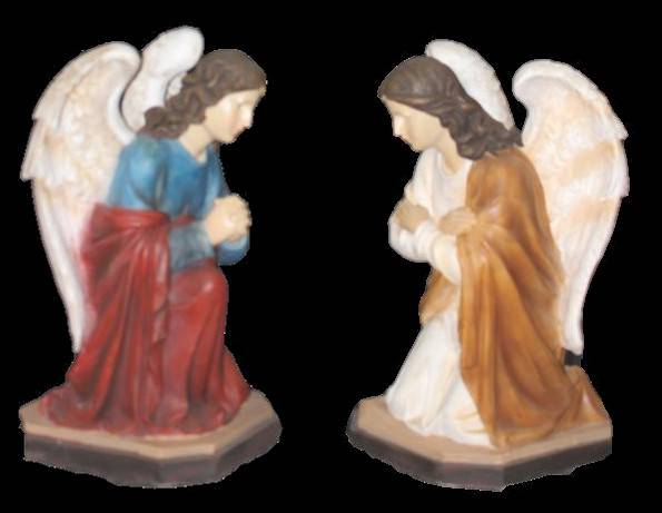 "20"" Kneeling Angels Set  statues, church statues, angel statues, hand painted, church goods, church items, christmas statues, easter statues, ZY16145N / ZY16154N"