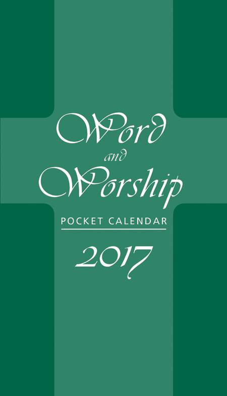2017 Word And Worship Pocket Calendar  calendars,