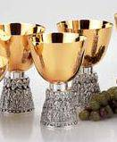2923 Serving Chalice serving chalice, chalice, modern chalice, apostle chalice, goldplated chalice, church goods, church supplies, artistic silver, 2923-2, molina