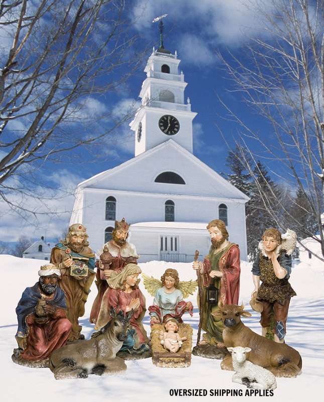 "36"" Full Color 12 Piece Nativity  *WHILE SUPPLIES LAST* outdoor nativity, indoor nativity, color nativity, christmas gift, christmas decor, yard decor, church gift, church items, 12 piece set, 53397"