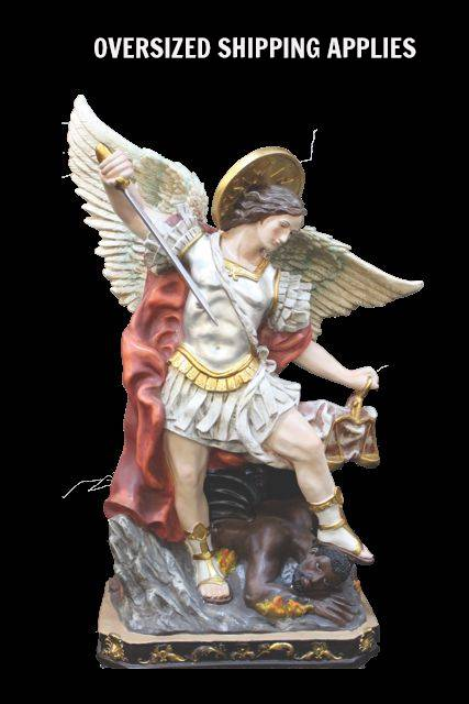 "40"" St. Michael Statue  st. michael statue, large statue, church statue, church good, patron saint statue, church display, archangel, ZY16209"