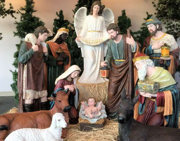 "48""  Large Scale Fiberglass Nativity Set yard nativity, lawn nativity, large scale nativity set, large nativity, outdoor nativity, outdoor nativities, nativity set, christmas nativity, large nativity, outdoor nativity, indoor nativity, church nativity, home nativity, zy16215"