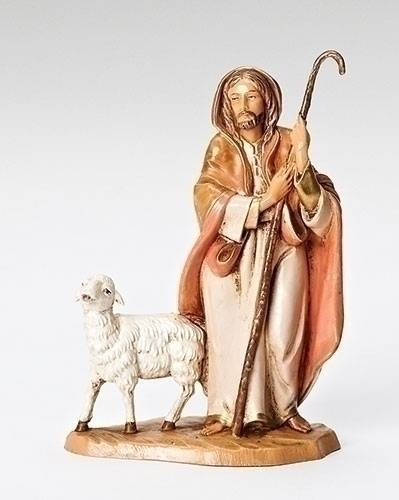 "5"" Fontanini Good Shepherd Figurine good shepherd statue, fontanini figures, fontanini pieces, fontanini shepherds"