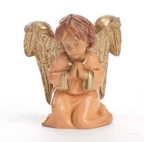 "5"" Fontanini Praying Angel Figure figure, 5"" figure, fontanini, christmas gift, christmas set, collection figures , nativity figures, open stock figures, 54052, praying angel, carmel angel,"