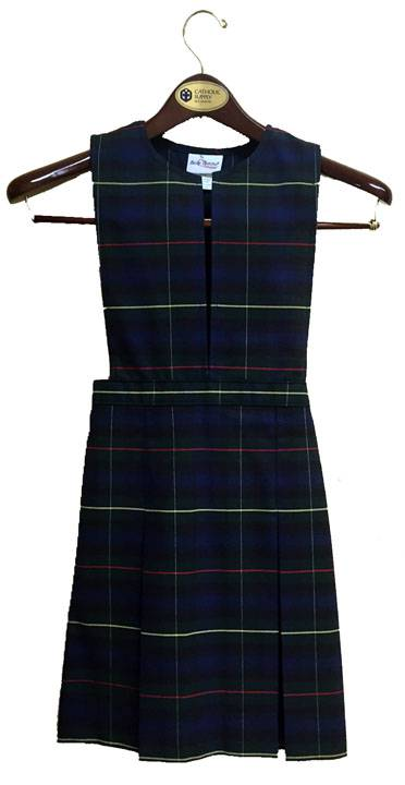 #55 Split Bib Uniform Jumper with Box Pleat Skirt 55 plaid jumper, 17455 plaid jumper, 17455, 17455 jumper, 55 plaid, #55 plaid, drop waist jumper, plaid school uniform jumper, plaid jumper, school uniform jumper, school uniform dress, plaid dress