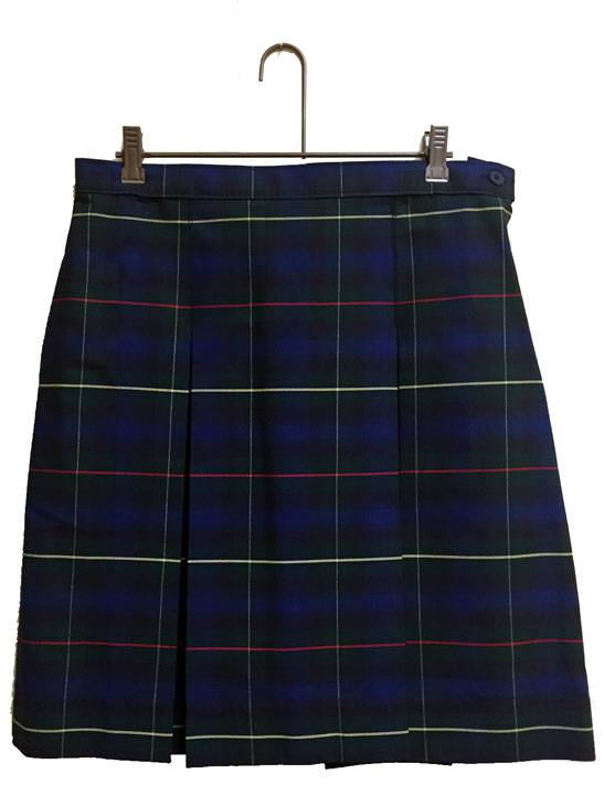 #55 Box Pleat Uniform Skirt 13455, 3455 skirt, 34 style skirt, #55 plaid, 55 uniform plaid skirt, 55 uniform plaid, girls plaid uniform skirt