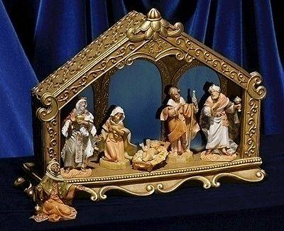 "6pc Fontanini Nativity Scene with 5"" Figures"