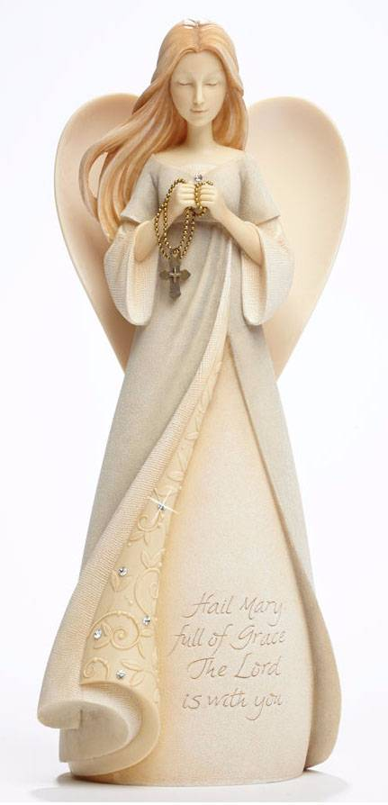 "9"" Hail Mary Angel Figurine foundations angels, hail mary statue, hail mary prayer, angel statue, angel prayer, hail mary, the hail mary, mary prayer, prayer to our mother, hail mary statue"