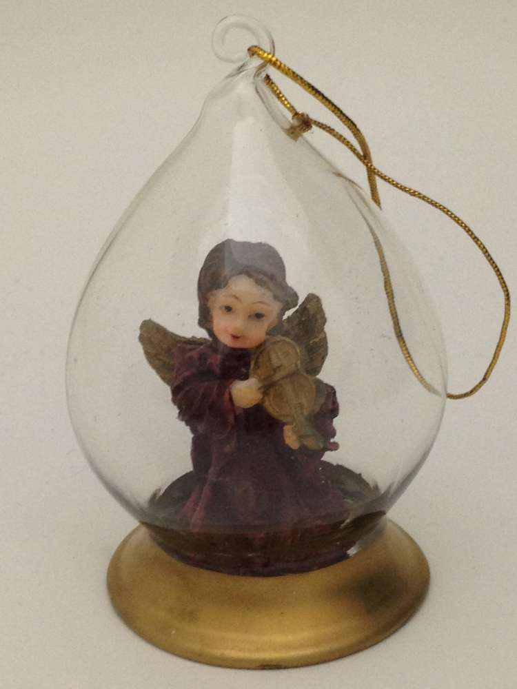 Angel Bulb Ornament angel ornament, christmas ornament, musical angel, glass ornament, tree decor, christmas decor, 16022
