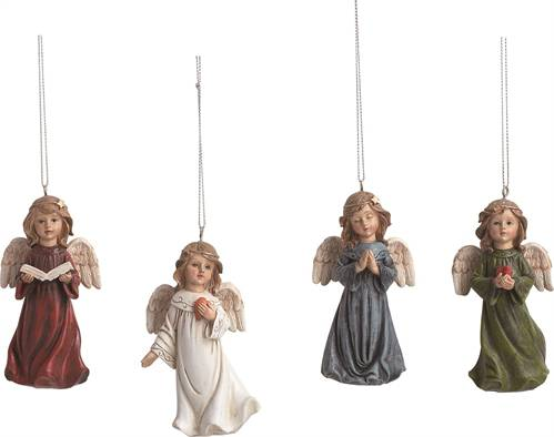 Assorted Angel Ornaments ornaments, angel ornaments, colored angels, tree decor, christmas ornaments,X9654