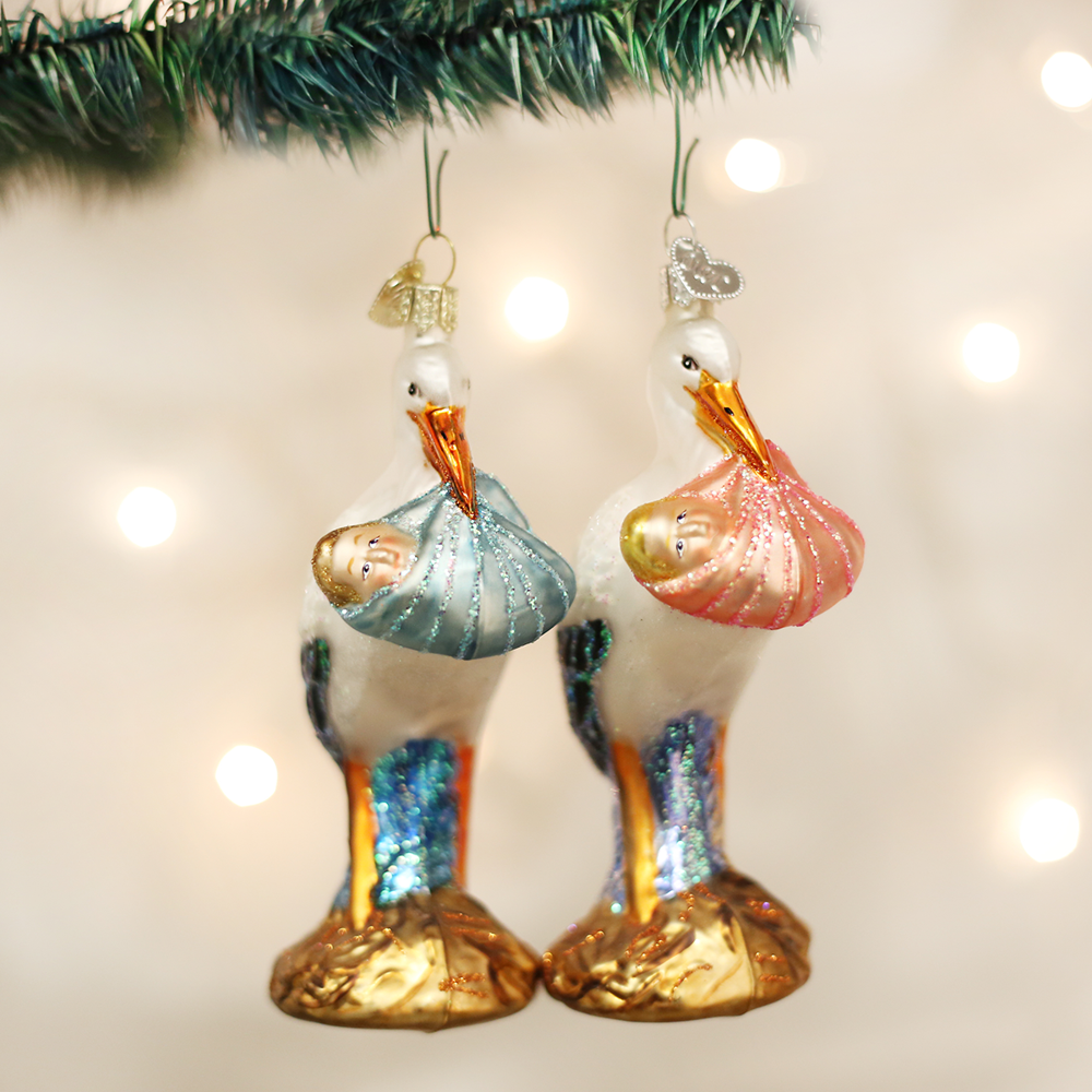 Assorted Bundle of Joy Stork Ornaments