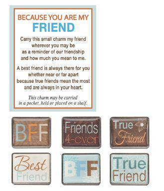 Assorted Friend Pocket Token pocket token, message pocket tokens, message crosses, pocket cross, inspired quotes, prayer tokens, retreat gifts, group gifts, party favors, ER21373, confirmation gift, RCIA gift, graduation gift, friend gift,