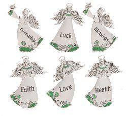 Assorted Irish Blessings Angel Charms irish charms, pocket token, irish cross charms, irish blessing charms, group gifts, irish gifts, message charms, er35912