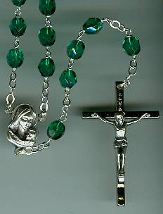 Aurora Borealis Emerald Crystal Rosary rosary, aurora borialis, green, italian,  oxidized center, oxidized crucifix, sacramental gift, sacramental rosary,07536 , first communion gift, rosary gift,