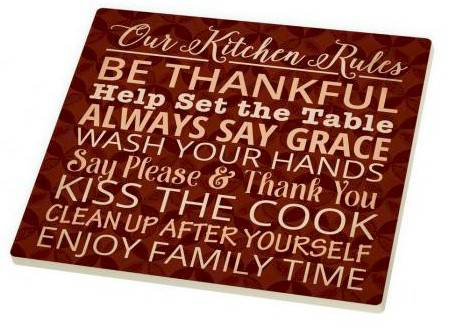 Be Thankful Trivet triviet, ceramic trivet, hot plate, message, kitchen decor, kitchen supplies, religious gift, TRI0030