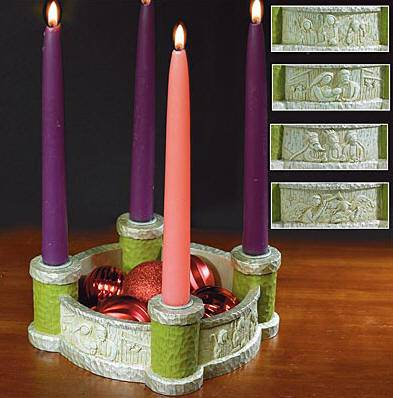 Bethlehem Scenes Advent Wreath *WHILE SUPPLIES LAST* advent wreath, advent candle holder, advent scene, christmas decor, advent candles,56116K