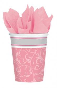 Pink Cups 583847,first communion partyware, pink partyware, girl first communion , girl first communion party, first communion party, paper products, paper cups, pink cups,