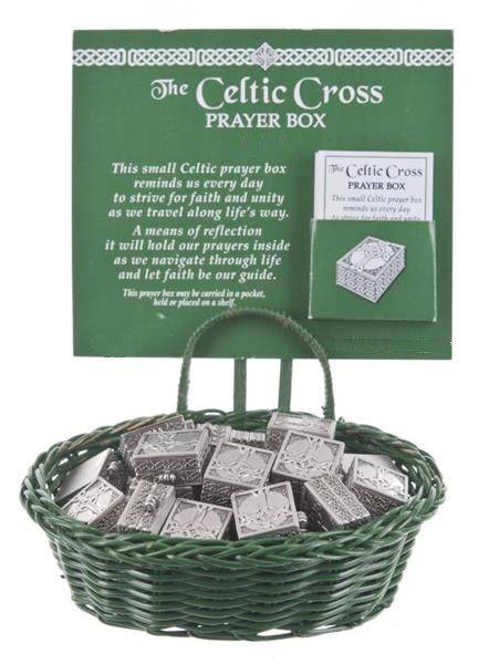 Celtic Cross Prayer Box irish charms, pocket token, irish cross charms, irish blessing charms, group gifts, irish gifts, message charms, er21351, prayer box, irish wish box,