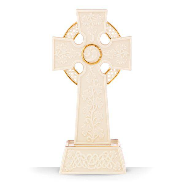 Lenox® Celtic Cross cross, table cross, elegant cross, home decor, wedding cross, cake topper, lenox cross, ivory china cross, sacramental gift, 843789, celtic cross, irish cross,
