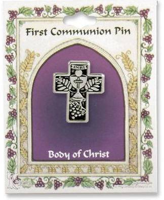 Chalice with Grapes Lapel Pin first communion lapel pin, chalice pin, holy eurcharist pin, sacramental lapel pin, 14242