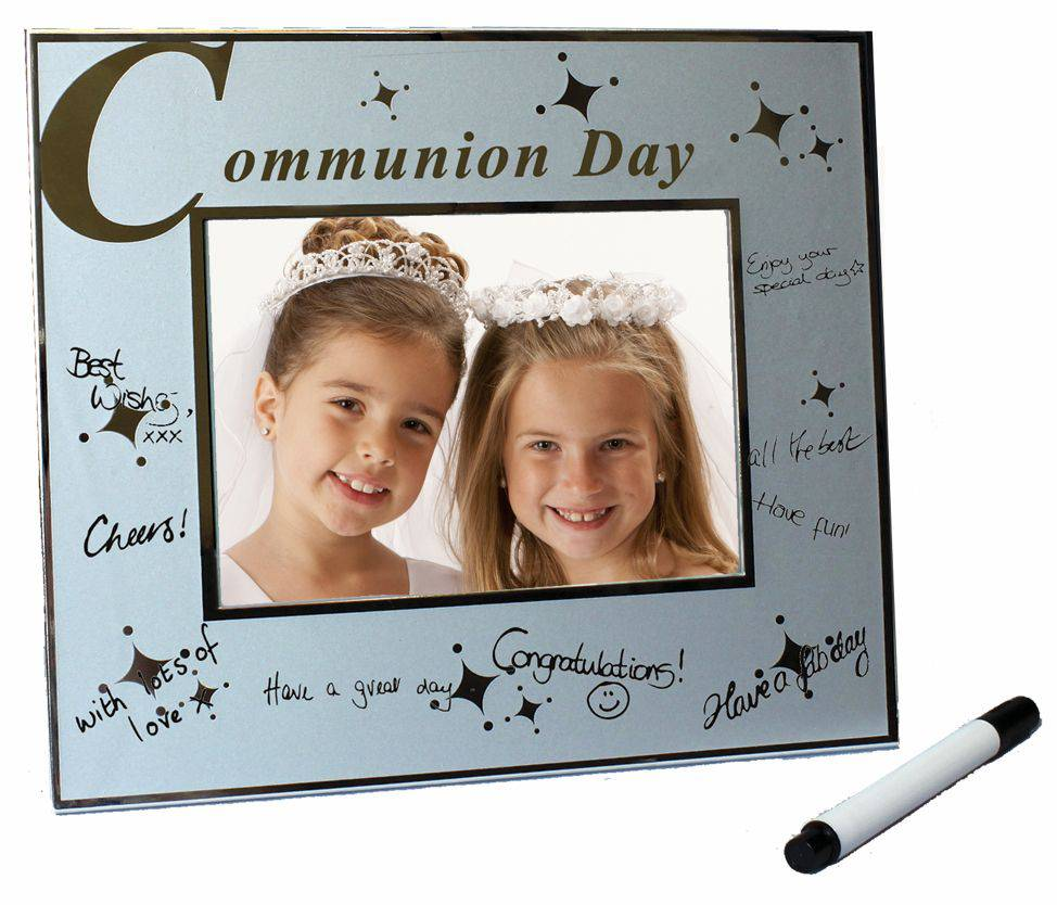 Communion Signature Frame first communion frame, first communion gift, glass frame, glass gift, picture frame, glass picture frame, holy eucharist picture frame,boy gift, girl gift, autograph frame