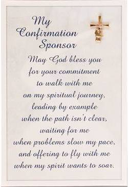Confirmation Sponser Lapel Pin and Prayer Card sponser pin, sponser gift, sponser prayer card, confirmation pin, confirmation card, confirmation gift, holy spirit, boy gift, girl gift, unique gift,