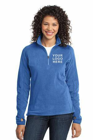 Custom Ladies Quarter Zip Fleece Pullover spirit wear, spiritwear, school spirit gear, school bookstore items, school accessories, custom school spiritwear, custom school gift items, custom school spirit wear