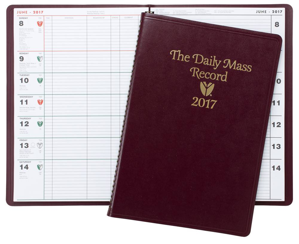 Daily Mass Record mass record, planner, religious planner, rectory supplies, church supplies, church goods, calendar, 2015 planner,