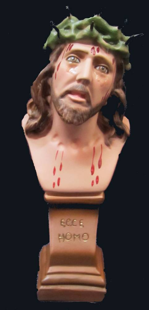 Ecce Homo Statue plaster statue, italian plaster, made in italy, hand painted statue, home decor, church decor, ecce homo statue, jesus statue, SGECCEHO20