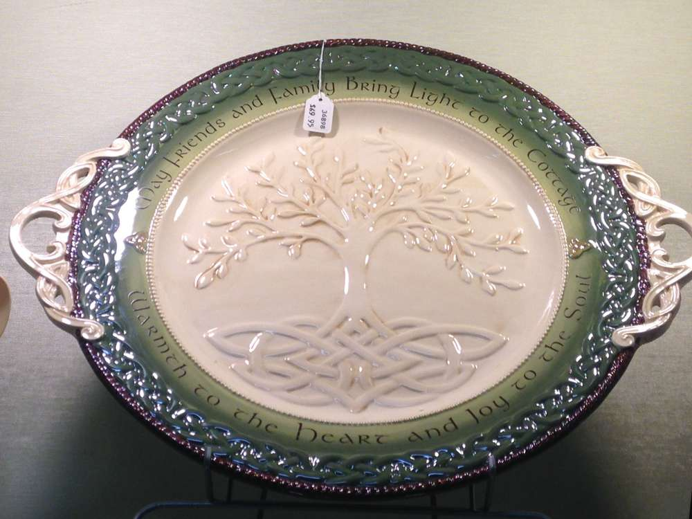 Family and Friends Irish Serving Platter irish platter, plate, home decor, plate and stand, table top stand, home gift, 463830