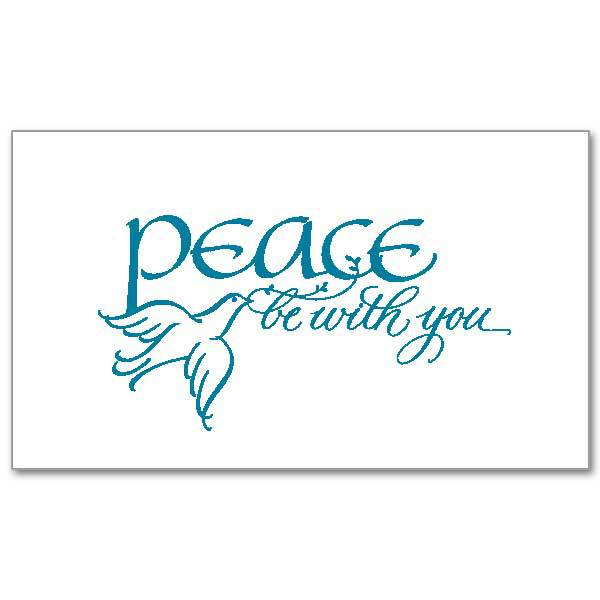 Peace Be With You Notecards, Pkg/20