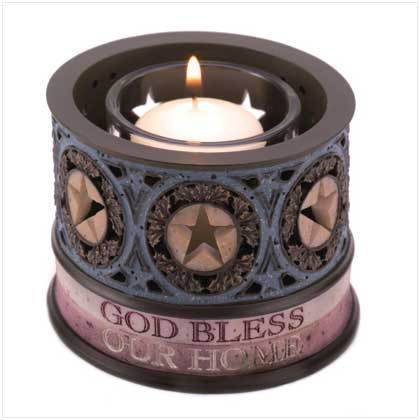 God Bless Our Home Votive Candle Holder