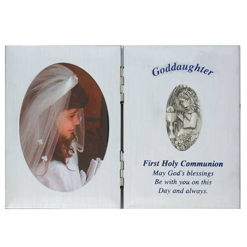 Goddaughter First Communion Frame first communion frame, brass frame, first communion gift, holy eucharist gift, picture frame, goddaughter gift, girl gift