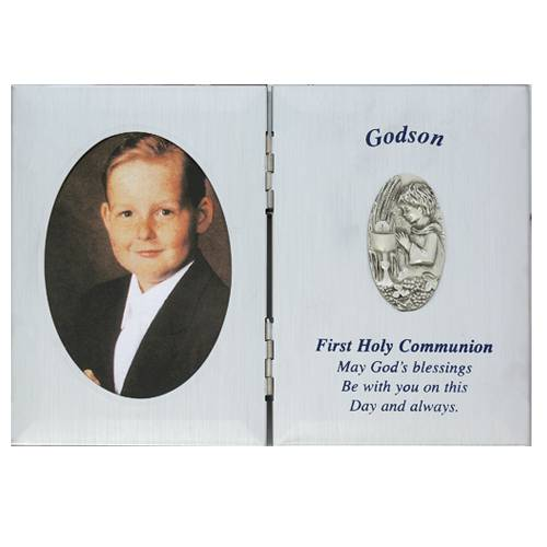 Godson First  Communion Frame first communion frame, brass frame, first communion gift, holy eucharist gift, picture frame, godson gift, boy gift