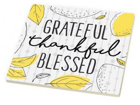 Grateful thankful Blessed Tivet triviet, ceramic trivet, hot plate, message, kitchen decor, kitchen supplies, religious gift, TRI0026