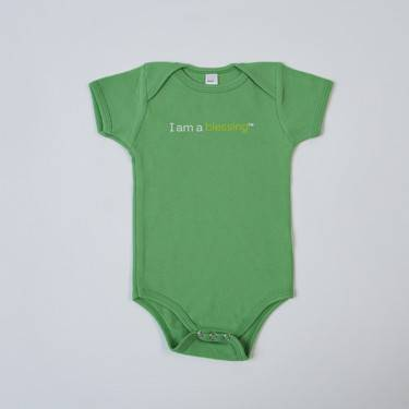 %27I am a blessing%27™ Baby Outfit cmas15n, baby gear, onsie, i am a blessing, green onsie, st pats day, youth, girl, boy, baby gift, baby shower gift, baptism gift,