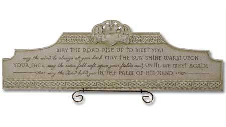 Irish Blessing Plaque 462424,irish gift, irish plaque, blessing , cement plaque, home decor, new home gift, wedding gift,