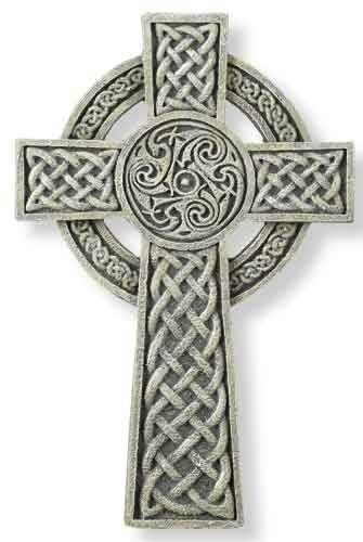 Irish Knot Wall Cross  ceramic cross, wall cross, irish gift, wedding cross, anniversary cross, wedding gift, 64070