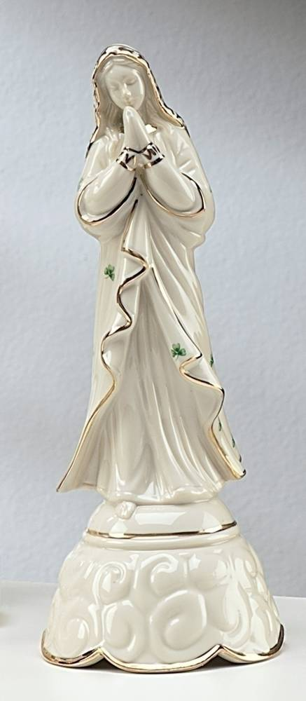 Irish Madonna Musical Statue irish gifts, irish statue, madonna statue, madonna figure, ave maria, porcalein figure, 44334