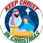 """Keep Christ in Christmas"" Nativity Auto Magnet auto magnet, christmas car magnet, fridge magnet, home decor, car decor, stocking stuffer,"